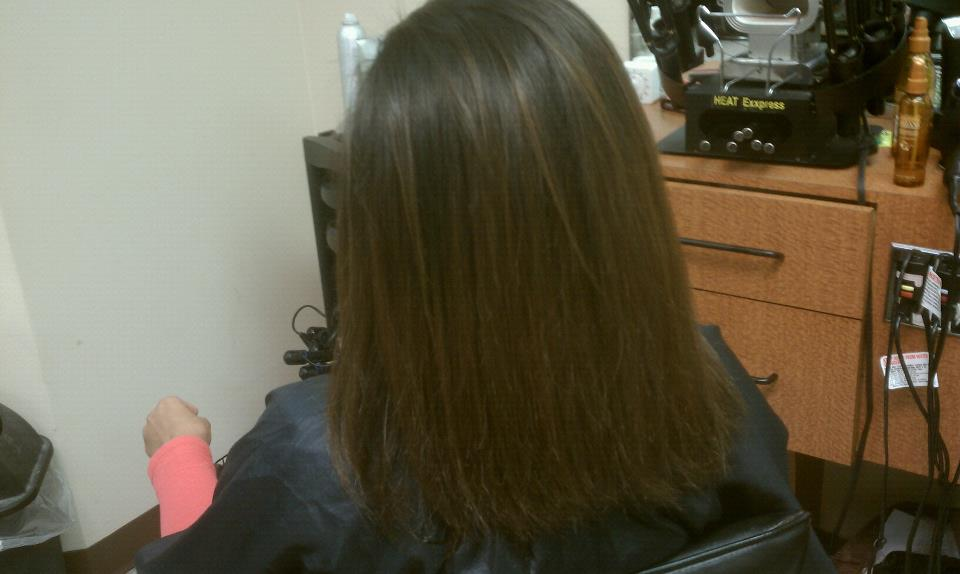 naturally curly hair flat-ironed